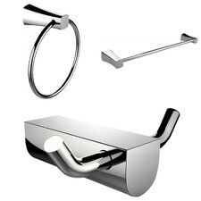 Wall Mounted Modern Towel Ring with Single Rod Towel Rack and Robe Hook