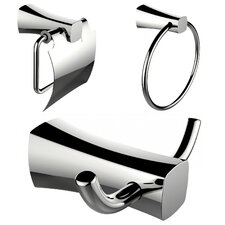 Wall Mounted Towel Ring, Toilet Paper Holder and Robe Hook