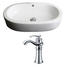 Transition Oval Vessel Sink with Overflow