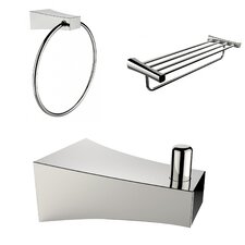 Wall Mounted Multi Rod Towel Rack with Robe Hook and Towel Ring
