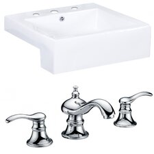 Xena Farmhouse Rectangle Vessel Sink with Overflow