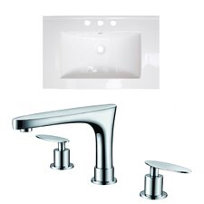 Double Handle Ceramic Top with Off Center Faucet