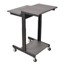 Mobile Single Person Laptop Cart
