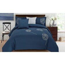 Adrien Lewis  Kort 5 Piece Full  Embroidered Comforter Set