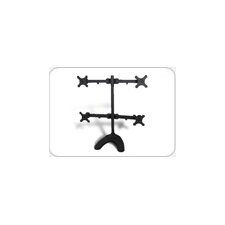 Free Standing Height Adjustable 4 Screen LCD Monitor Mount Stand