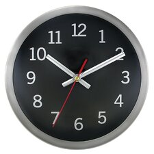 "Brushed 9"" Wall Clock"