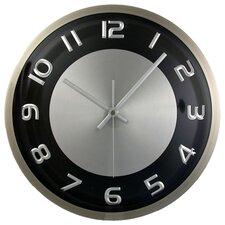 "Silver Rim 11.5"" Wall Clock"