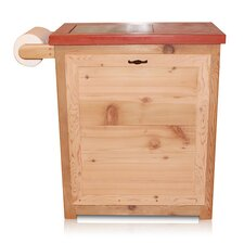 13-Gal Outdoor Double Trash / Recycle Receptacle