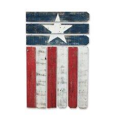 Natural Reclaimed Americana Flag Wall Décor