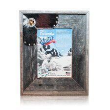 Natural Cowhide Reclaimed Silver and Gold Star Picture Frame