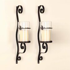Iron Wall Sconce Candle Holder (Set of 2)