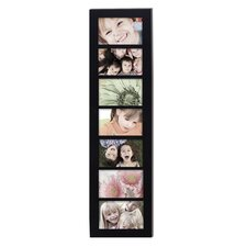 7 Opening Wood Photo Collage Wall Hanging Picture Frame