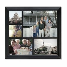 5 Opening Decorative Wood Photo Collage Wall Hanging Picture Frame