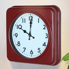 Square Traditional Vintage Dial Retro Wall Hanging Clock