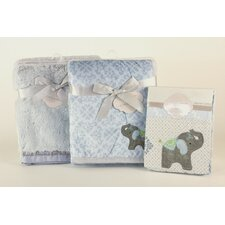 Elephant 3 Piece Crib Bedding Set