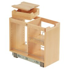 FindIT Kitchen Storage Organization Base Cabinet Pullout with Slide, Half Tray, Cutting Board and Shelf