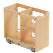 FindIT Kitchen Storage Organization Base Cabinet Pullout with Slide and Half Shelf