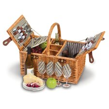 Dilworth 4 Person Picnic Basket with Removable Insulated Cooler