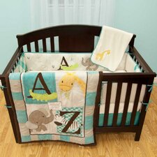 A to Z Nursery 5 Piece Crib Bedding Set