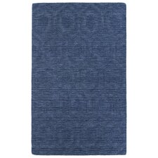 Imprints Modern Blue Geometric Area Rug