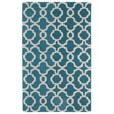 Revolution Teal & White Area Rug