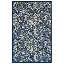 Five Seasons Navy & Cream Indoor/Outdoor Area Rug