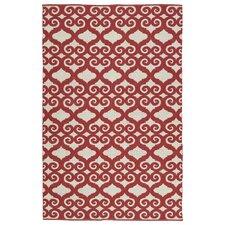 Brisa Red/White Indoor/Outdoor Area Rug