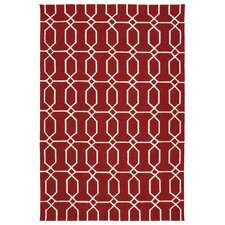 Escape Red/White Indoor/Outdoor Area Rug