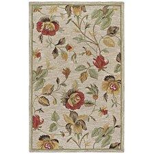 Khazana Savannah Linen Floral Rug