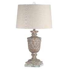 "Mod Aged Urn 30"" H Table Lamp with Empire Shade"