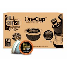 One Cup French Roast Single Serve Coffee (Pack of 36)