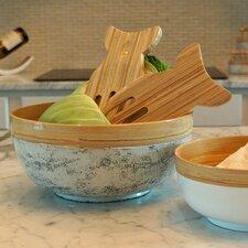 2 Piece Fish Bamboo Salad Hand Set