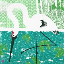 Limited Edition 'Whooping Crane Large' by Bee Things Painting Print