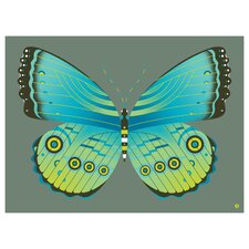 Limited Edition 'Blue Morpho Butterfly' by Shay Ometz and Jeff Barfoo Graphic Art