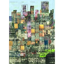 Limited Edition 'Metropolis Green' by Andy Mercer Painting Print