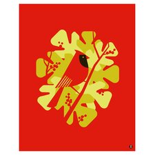 Limited Edition 'Cardinal Large' by Shay Ometz and Jeff Barfoo Graphic Art