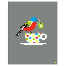 Limited Edition 'Painted Bunting Large' by Shay Ometz and Jeff Barfoo Graphic Art