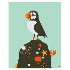 Limited Edition 'Puffin' by Shay Ometz and Jeff Barfoo Graphic Art