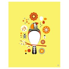 Limited Edition 'Zebra Finch Large' by Shay Ometz and Jeff Barfoo Graphic Art