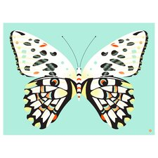 Limited Edition 'Lime Butterfly' by Shay Ometz and Jeff Barfoo Graphic Art