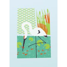 Limited Edition 'Whooping Crane Small' by Shay Ometz and Jeff Barfoo Graphic Art