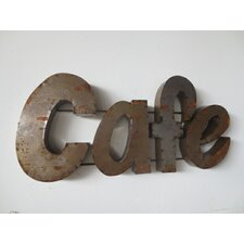 Cafe Sign with Rebar Wall Décor