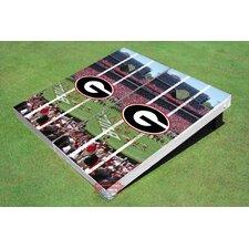 "NCAA University Of Georgia ""G"" Stadium Long Strip Cornhole Board (Set of 2)"