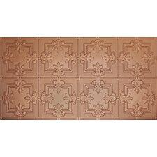 """Glue-Up Fleur De Lis Pattern 12"""" x 12"""" Tin Ceiling Tile in Copper"""