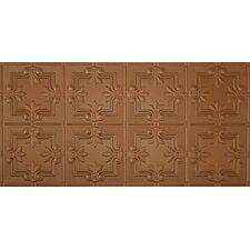 """Glue-Up Fleur De Lis Pattern 12"""" x 12"""" Tin Ceiling Tile in Aged Copper"""