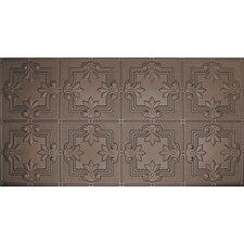 """Glue-Up Fleur De Lis Pattern 12"""" x 12"""" Tin Ceiling Tile in Bronze"""