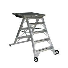 4 ft Aluminum Model 10 Podium Rolling ladder