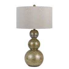"""Leon 3 Way 31"""" H Table Lamp with Drum Shade"""
