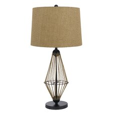 """Monticello 3 Way 31"""" H Table Lamp with Drum Shade"""