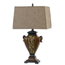 "Walton 3-Way Resin 29"" H Table Lamp with Rectangular Shade"